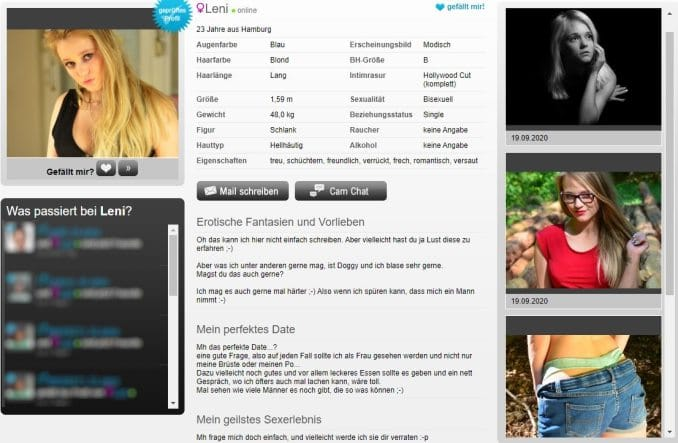 Sexy Leny will Pic Tausch bei YooFlirt